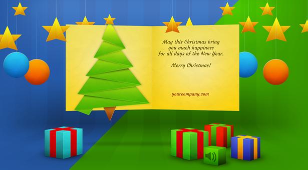 Carte de Noël avec de nombreux effets - 7