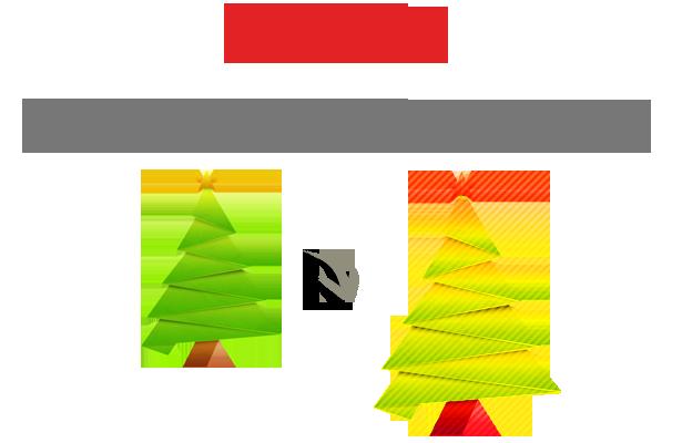 Carte de Noël avec de nombreux effets - 4